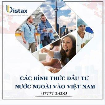 Các hình thức đầu tư nước ngoài vào Việt Nam