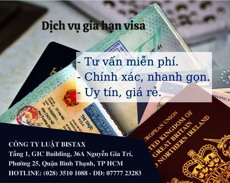 Dịch vụ gia hạn visa uy tín, giá rẻ, nhanh gọn tại Luật Bistax
