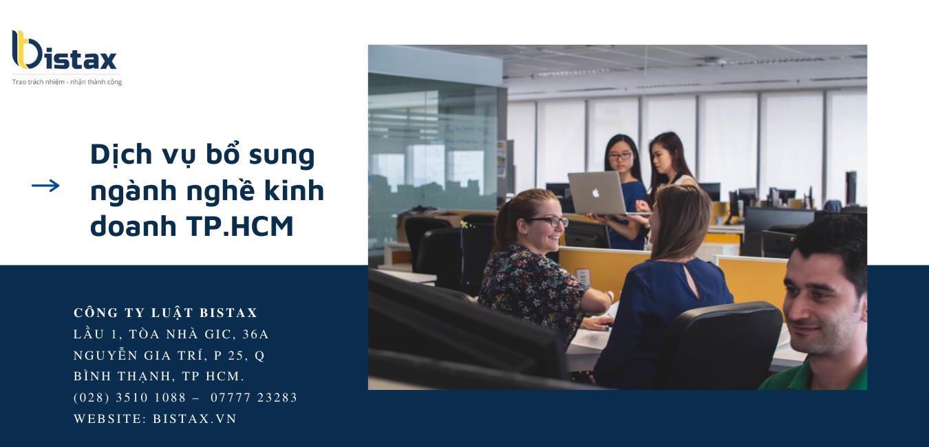 Dịch vụ bổ sung ngành nghề kinh doanh TP.HCM