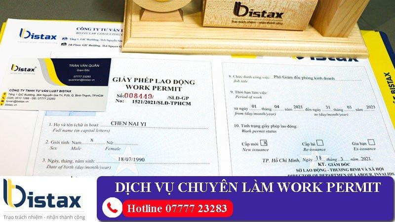Dịch vụ làm work permit cho người nước ngoài