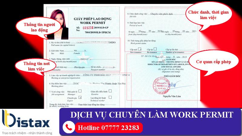 Dịch vụ chuyên làm Work permit (giấy phép lao động) cho người nước ngoài