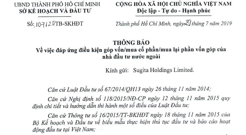 Đăng ký góp vốn/mua cổ phần/phần vốn góp cho người nước ngoài