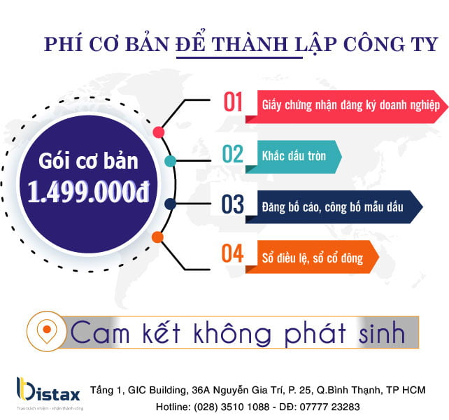Chi Phí thành lập công ty tại Luật Bistax