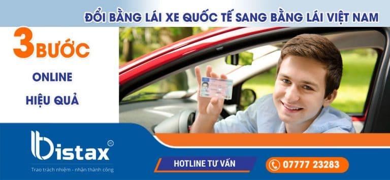 3 bước làm online để đổi bằng lái xe quốc tế sang bằng lái Việt Nam