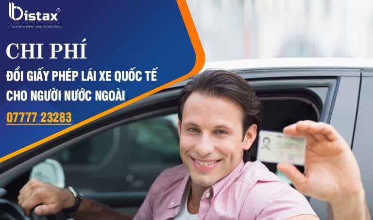Phí đổi giấy phép lái xe quốc tế cho người nước ngoài