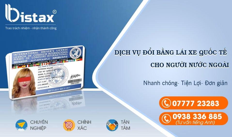Đổi bằng lái xe quốc tế sang Việt Nam cho người nước ngoài