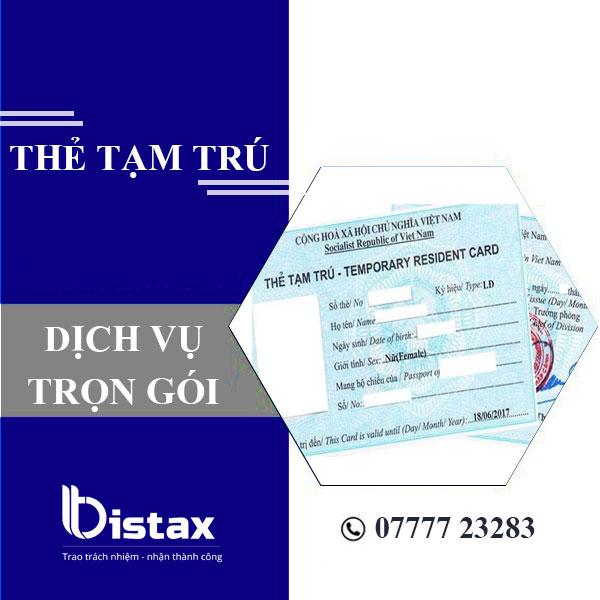 Dịch vụ làm thẻ tạm trú tại TPHCM