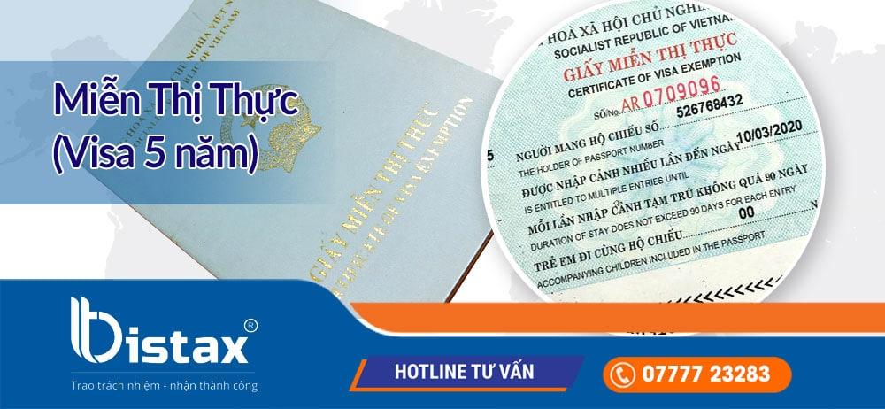 Miễn thị thực (Visa 5 năm) cho người nước ngoài