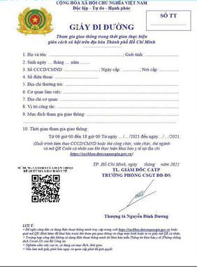 Mẫu giấy đi đường do CSGT cấp