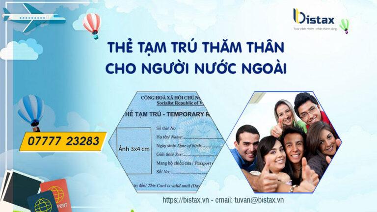 Thẻ tạm trú thăm thân cho người nước ngoài