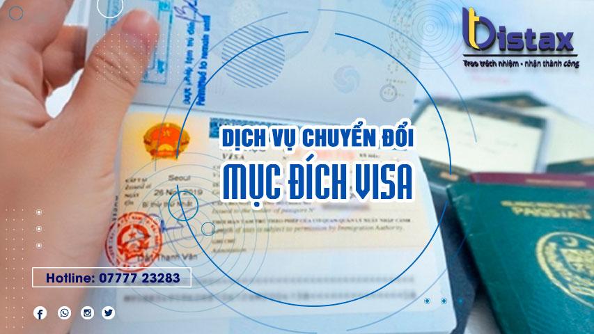 Dịch vụ chuyển đổi mục đích visa