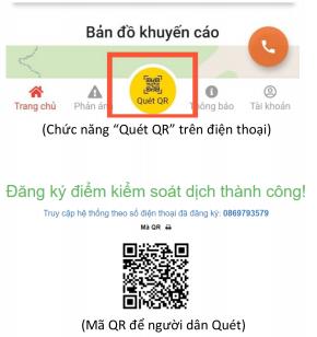Quét mã QR trên điện thoại