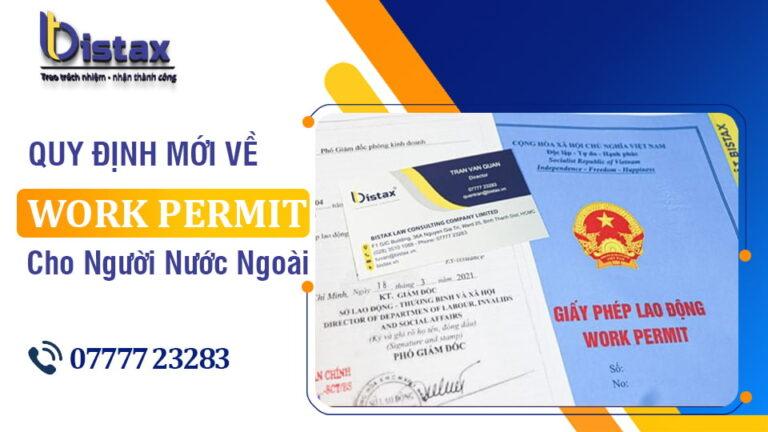 Quy định về Work permit cho người nước ngoài