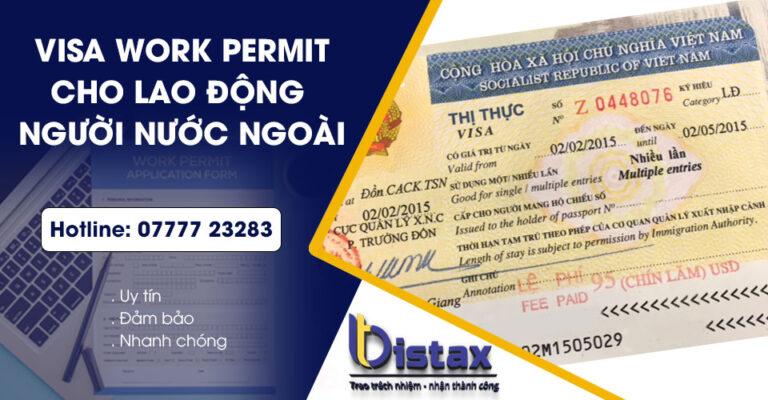 Visa work permit cho người nước ngoài