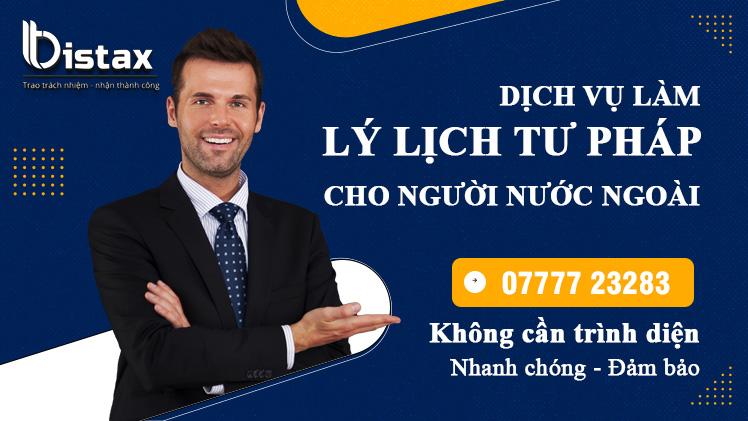 Dịch vụ làm lý lịch tư pháp cho người nước ngoài
