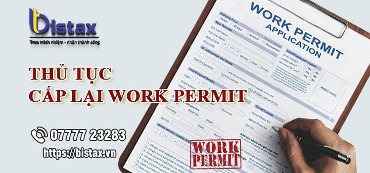 Thủ tục cấp lại work permit